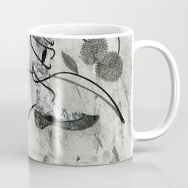 Little Red Riding Hood steps in the forest Coffee Mug