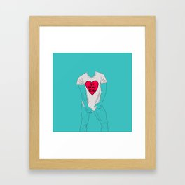 Loving the beard Framed Art Print