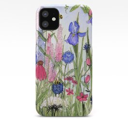 Colorful Garden Flower Acrylic Painting iPhone Case