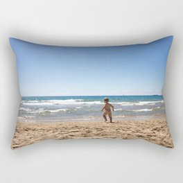 Defying waves Rectangular Pillow