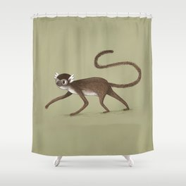 Squirrel Monkey Walking Shower Curtain