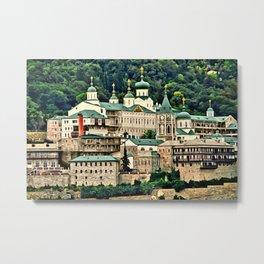 St. Panteleimon Temple Digital Painting Metal Print