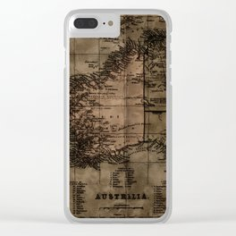 Vintage Map of Australia Clear iPhone Case