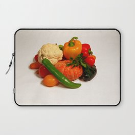 Vegetarian food background closeup Laptop Sleeve