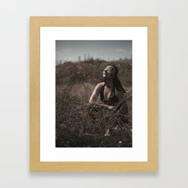 Javanese mask girl Framed Art Print