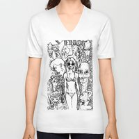 hollywood V-neck T-shirts featuring Hollywood by gallerydod
