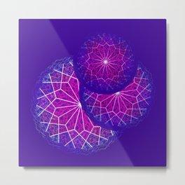 Mandala spin Metal Print