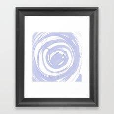 Swirl Pale Blue Framed Art Print