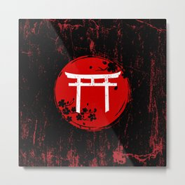 Japanese Torii Gate Metal Print
