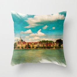 Konstanz Cityscape 2 Throw Pillow