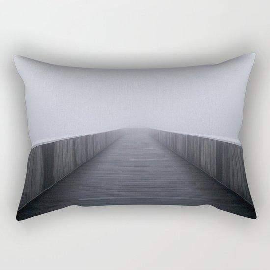 """Fog in the bridge"" Rectangular Pillow"