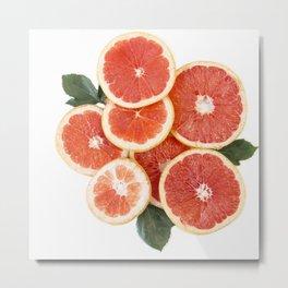Grapefruit & Roses 01 Metal Print