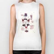 Geometric Gymnasts Biker Tank