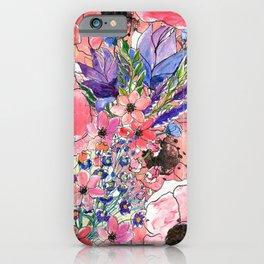Hand painted florals iPhone Case