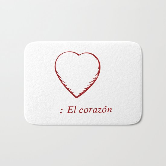 El Corazon Bath Mat