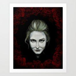 Dame of Roses Art Print