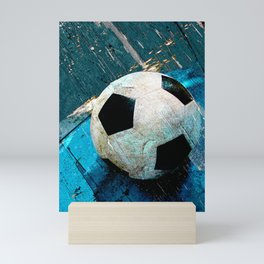 The soccerball version 2 Mini Art Print