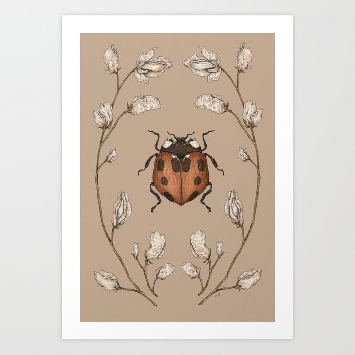 The Ladybug and Sweet Pea Art Print