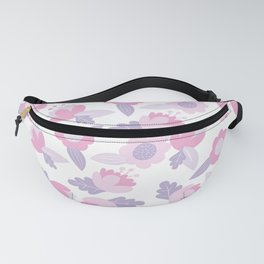 Hand painted pastel pink lavender modern floral Fanny Pack