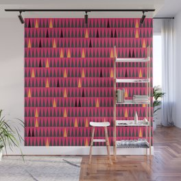 Pink and Orange Squibbles Wall Mural