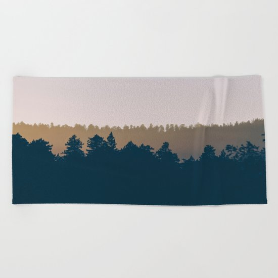 Woods Abstract Beach Towel
