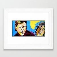 dumb and dumber Framed Art Prints featuring Uncle Joey and Dumb and Dumber guy. by Paul Kobler Art