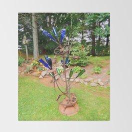 Glass and Steel Garden Art Throw Blanket