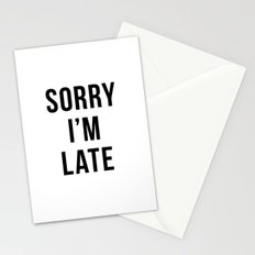 Sorry I'm Late Stationery Cards