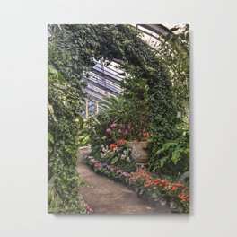 Botanical Garden Arch Metal Print