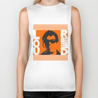lou reed Biker Tanks featuring Lou Reed by Silvio Ledbetter