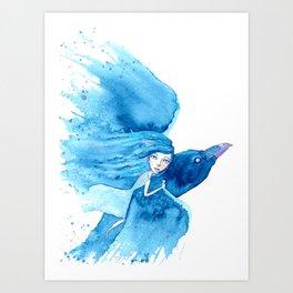 Raven Rider Art Print