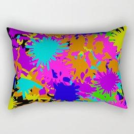 Splatoon Ink Fight Pattern Rectangular Pillow