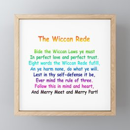The Wiccan Rede Framed Mini Art Print