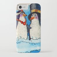 penguins iPhone & iPod Cases featuring penguins by oxana zaika