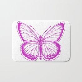 Butterfly - Violet - Beautiful - purple Bath Mat