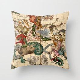 Constellation Chart 1693b Throw Pillow