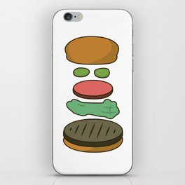 Bob's Burgers Hamburger Parts 2 iPhone Skin