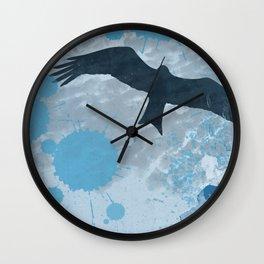 Bird in the Rain Wall Clock