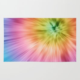 Colorful Starburst Tie Dye Rug