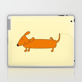 Cute pissing dachshund Laptop & iPad Skin
