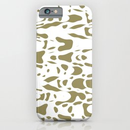 Beige and white, abstract liquid print, deformed drops flow design iPhone Case