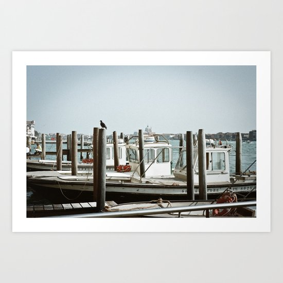VENICE VII - WHARF II Art Print