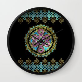 Endless Knot in Mandala Lotus shape Wall Clock