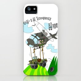 UH-1H Huey Helicopter iPhone Case