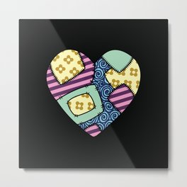 Patchwork heart Metal Print