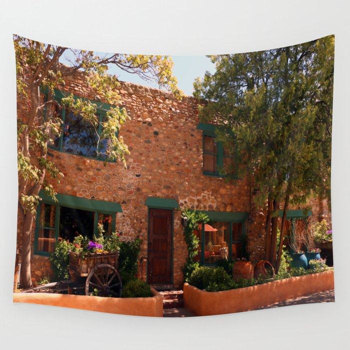 Old Town Santa Fe >> Alley In Old Town Santa Fe Wall Tapestry By Christianeschulze