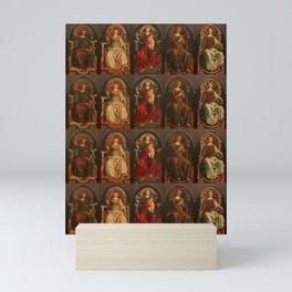"Sandro Botticelli and Piero del Pollaiolo ""Theological and cardinal virtues"" Mini Art Print"