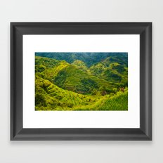 Banaue Rice Terraces Philippines Framed Art Print