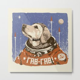 Soviet Space Dog Metal Print