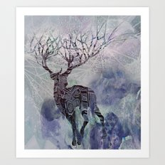 deer dreams Art Print